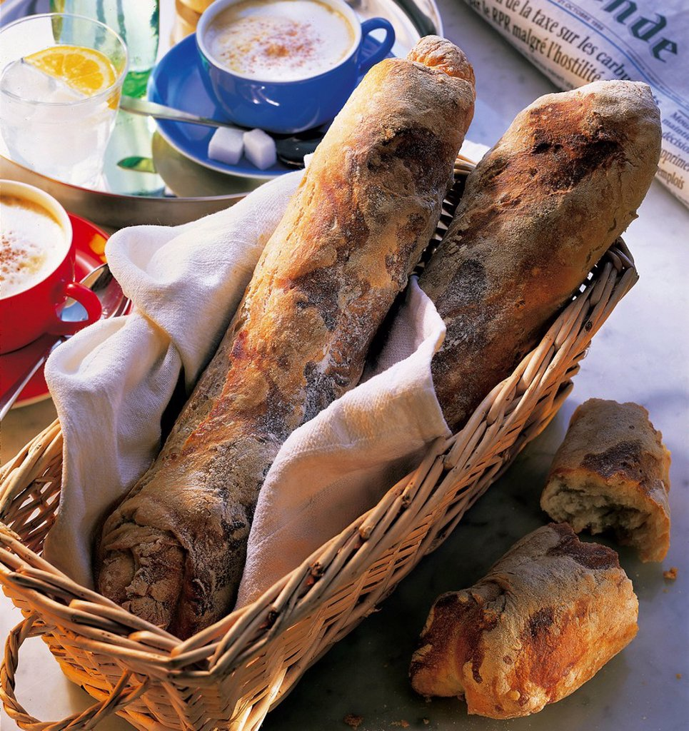 Stock Photo: 1848-700953 Crusty baguette, France, recipe available for a fee