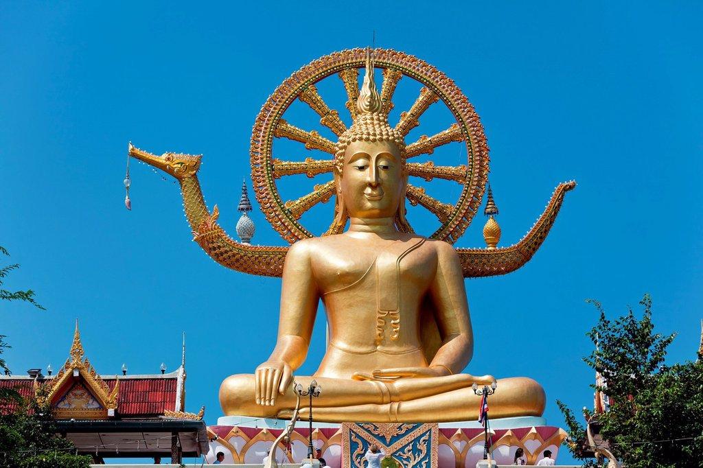 Stock Photo: 1848-701158 Large Buddha statue, Ko Samui, Thailand, Asia