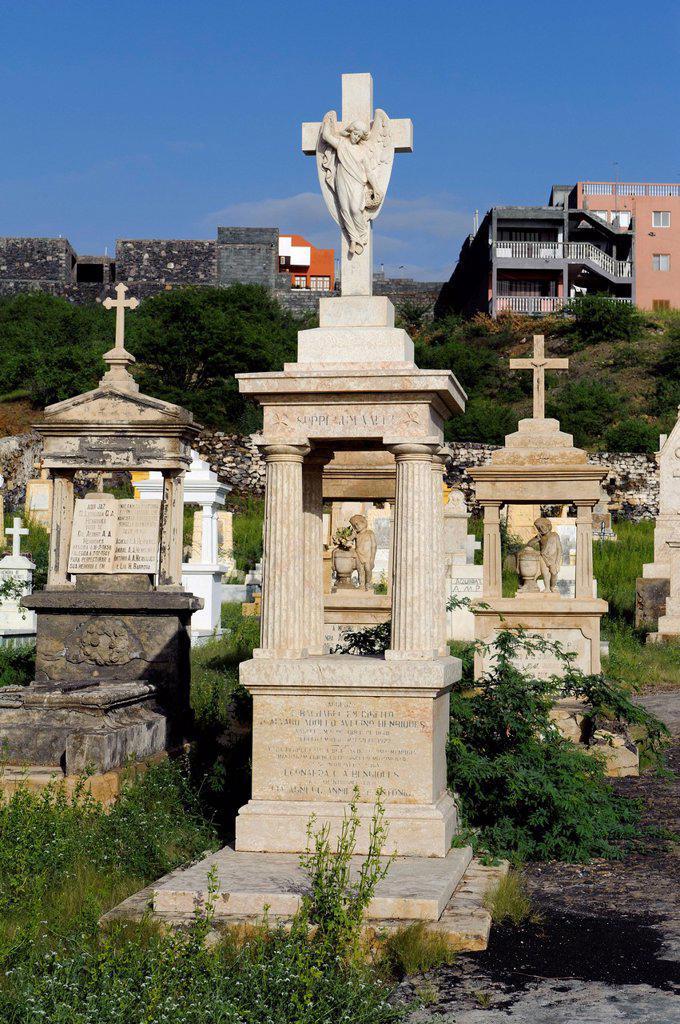 Stock Photo: 1848-701220 Cemetery in Sao Filipe, Cape Verde, Africa