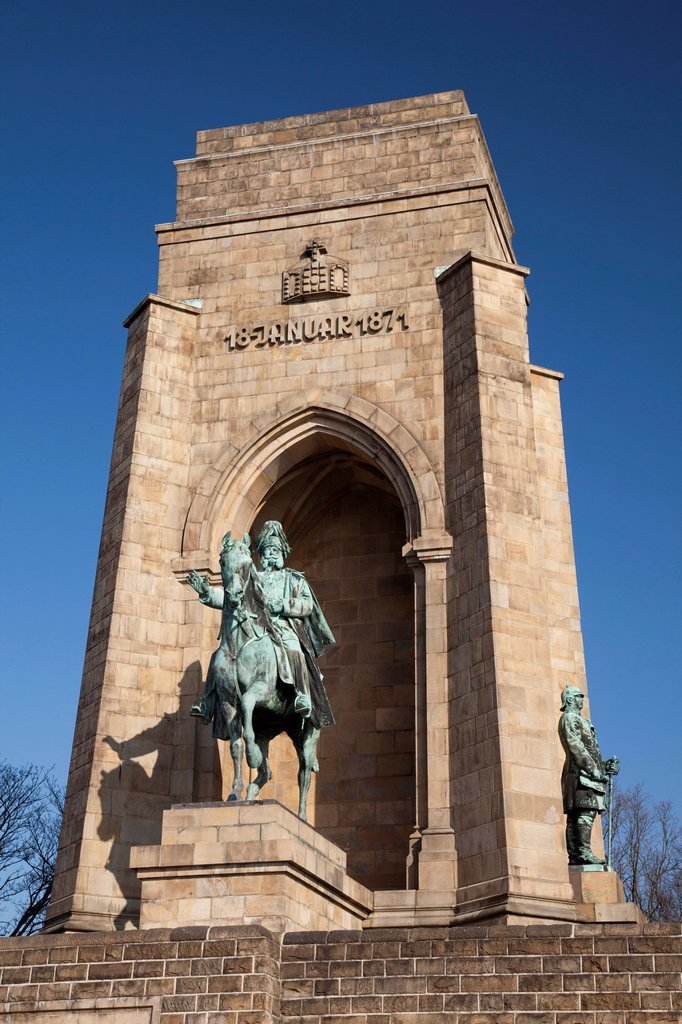 Stock Photo: 1848-701740 Kaiser Wilhelm Memorial, Hohensyburg, Syburg, Dortmund, Ruhr region, North Rhine_Westphalia, Germany, Europe, PublicGround