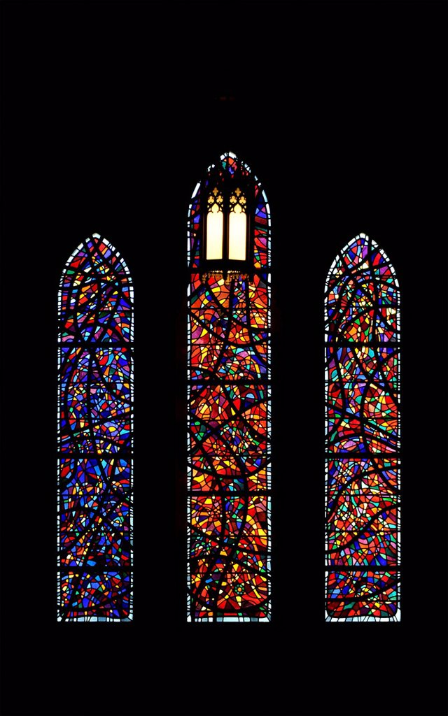 Stock Photo: 1848-701849 Stained glass window, Washington National Cathedral or Cathedral Church of Saint Peter and Saint Paul in the diocese of Washington, Washington, DC, District of Columbia, United States of America, USA