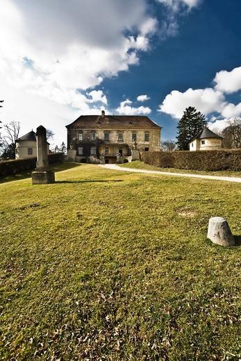 Castle in Karnabrunn, Weinviertel, Lower Austria, Austria : Stock Photo