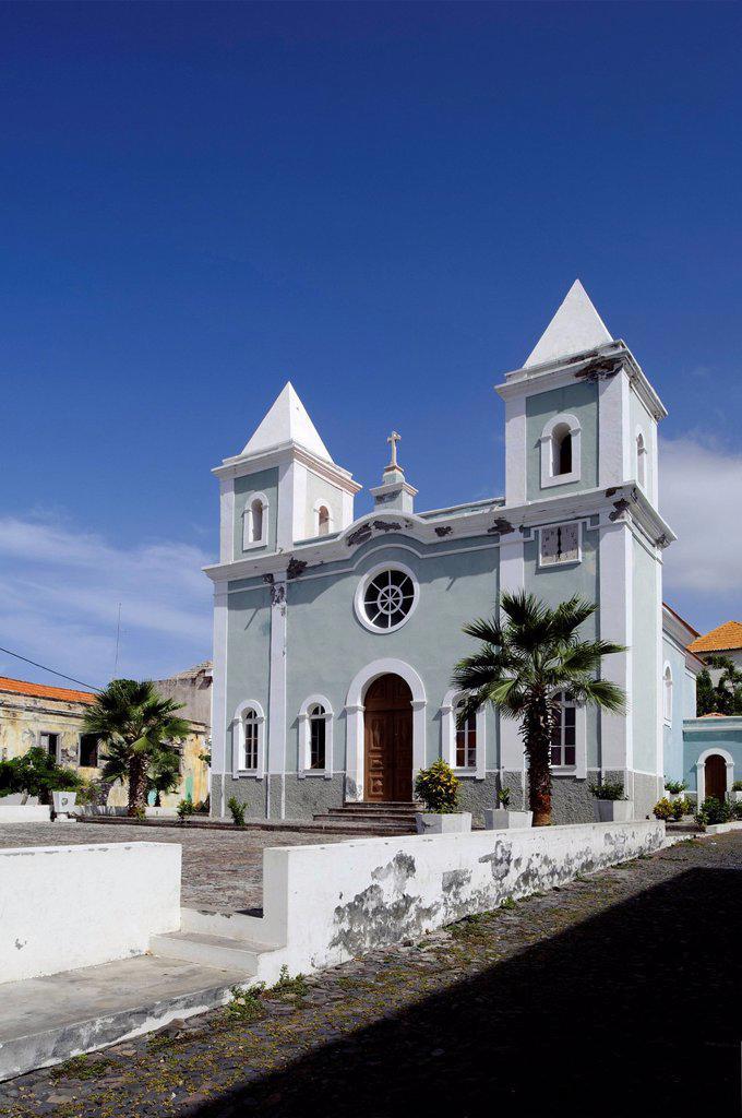 Stock Photo: 1848-702535 Igreja Nossa Senhora da Conceicao church, Sao Filipe, Foto, Cape Verde, Africa