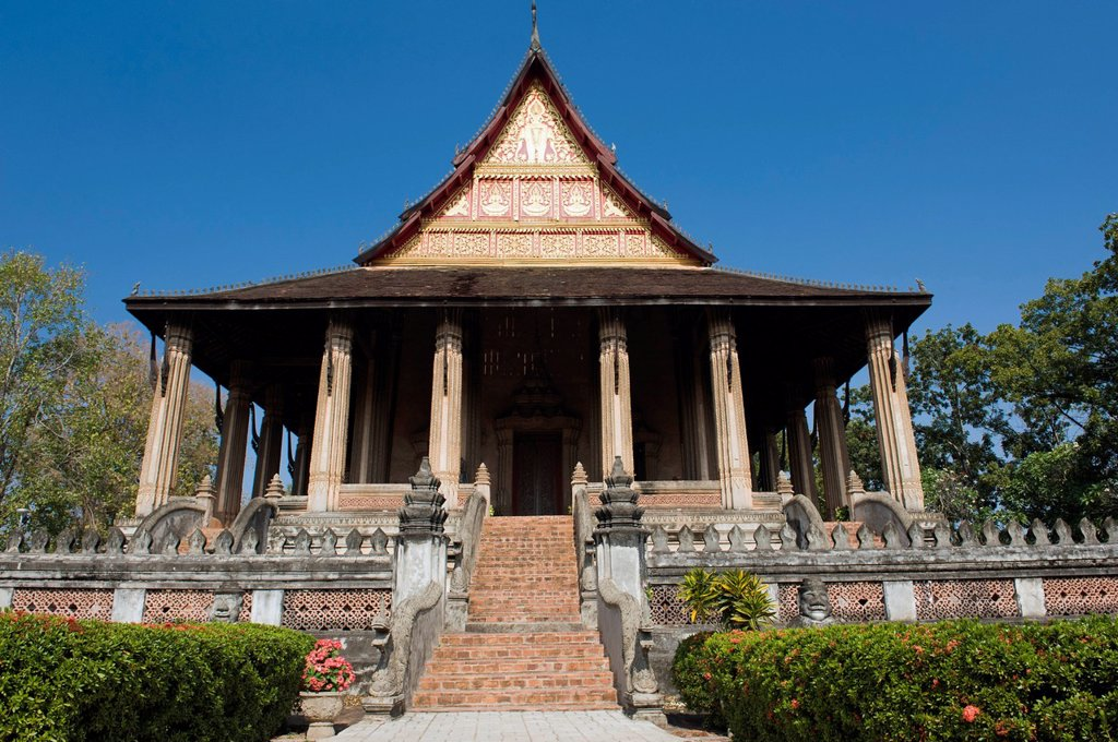 Museum of Buddhist Art, Ho Phra Keo temple, Vientiane, Laos, Indochina, Asia : Stock Photo