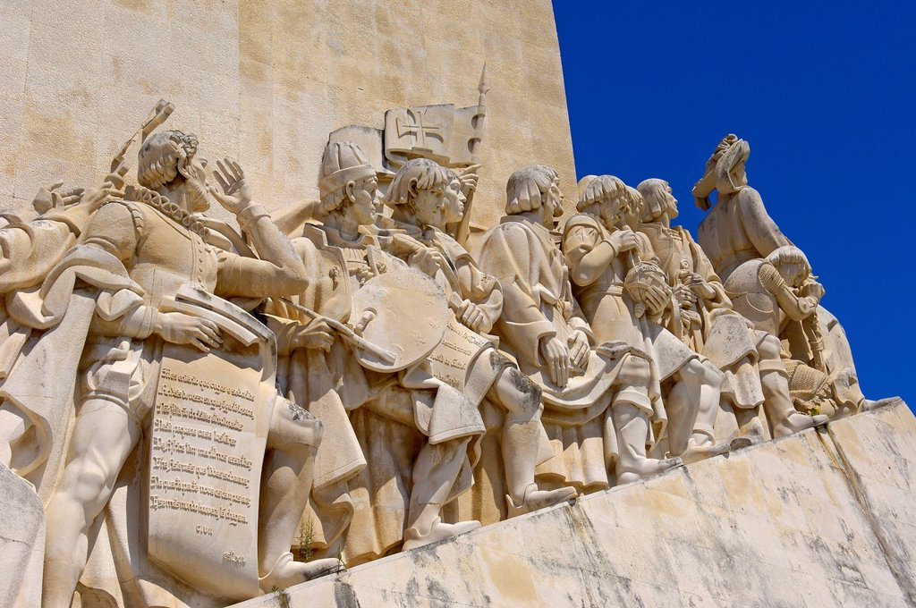 Monument to the Discoveries, Padrao dos Descobrimentos, Belem, Lisbon, Portugal, Europe : Stock Photo