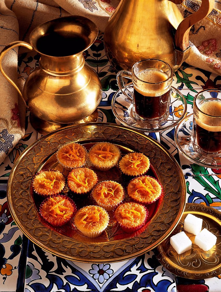 Stock Photo: 1848-704165 Juicy orange biscuits, Morocco, recipe available for a fee
