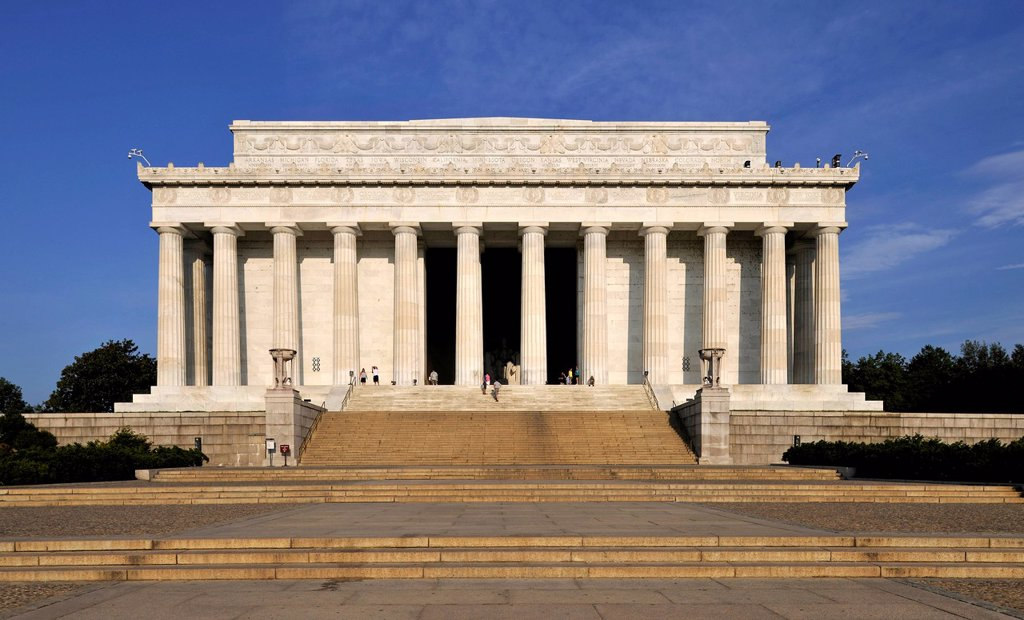 Stock Photo: 1848-706068 Lincoln Memorial, Washington DC, District of Columbia, United States of America, USA