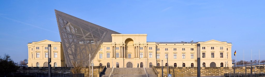 Arsenalhauptgebaeude building of the MHM, Militaerhistorisches Museum, military history museum, Dresden, Saxony, Germany, Europe, PublicGround : Stock Photo