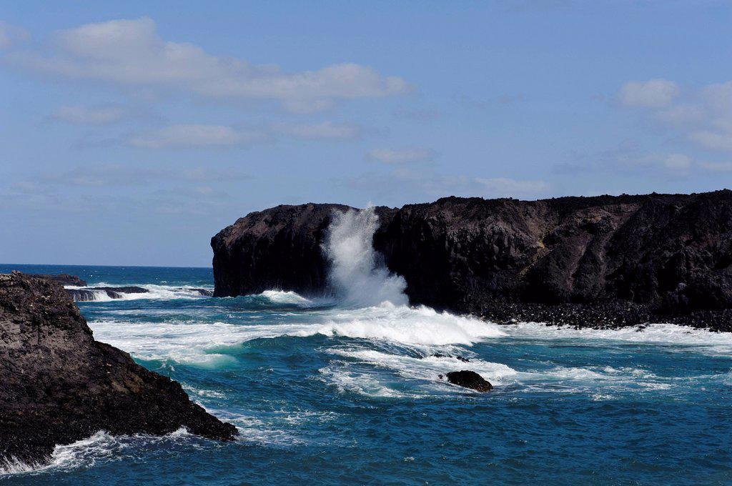 Coast of Ponta da Salina, Fogo, Cape Verde, Africa : Stock Photo