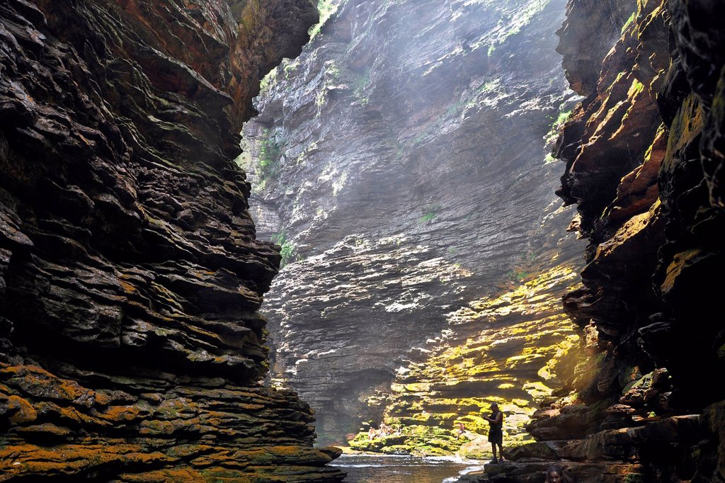 Stock Photo: 1848-708293 Buracao Canyon near Lencois, Chapada Diamantina, Bahia, Brazil, South America