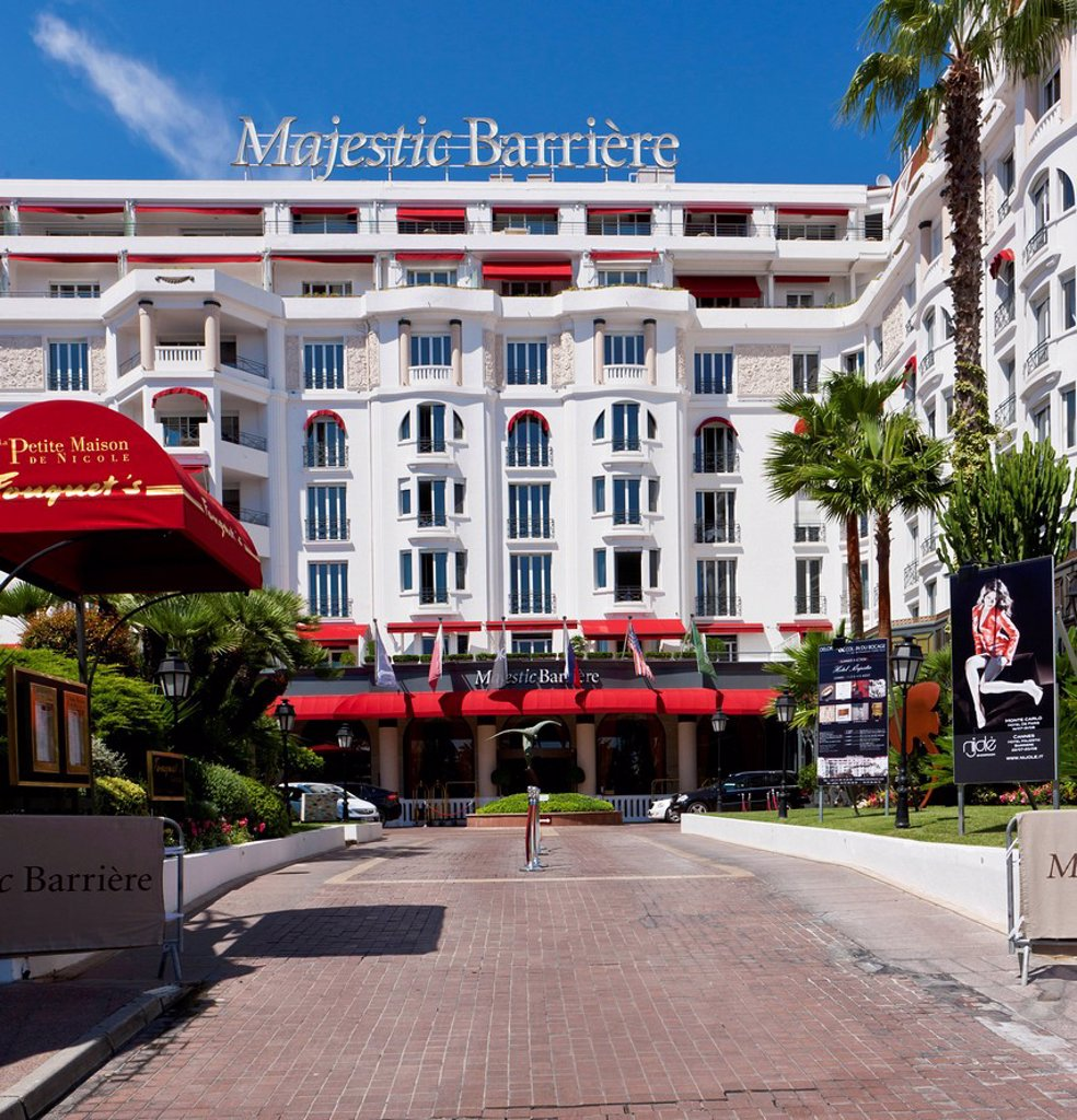 Stock Photo: 1848-708414 Majestic Barriere Hotel on La Croisette, Cannes, Côte d'Azur, Southern France, France, Europe, PublicGround