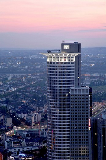 Stock Photo: 1848-70850 Westend Tower, Frankfurt, Hesse, Germany, Europe