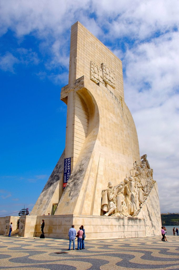 Monument to the Discoveries, Padrao dos Descobrimentos, Belem, Lisbon, Portugal, Europe : Stock Photo