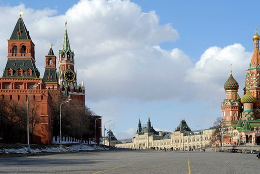 Kremlin Towers, Red Square, Moscow, Russia : Stock Photo