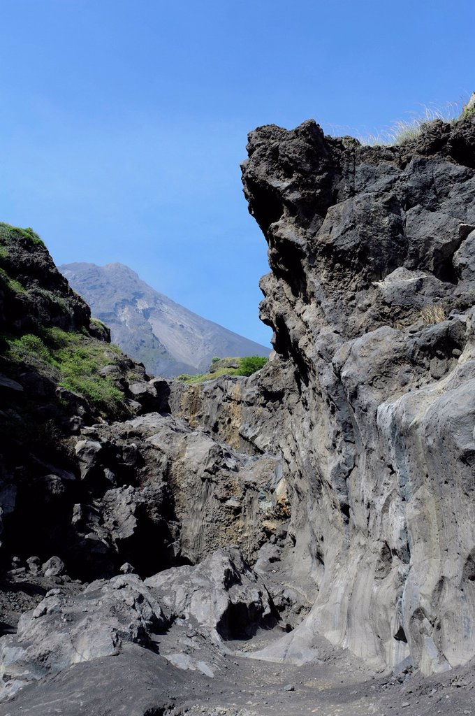 Stock Photo: 1848-709372 Lava rocks on the east coast, Fogo, Cape Verde, Africa