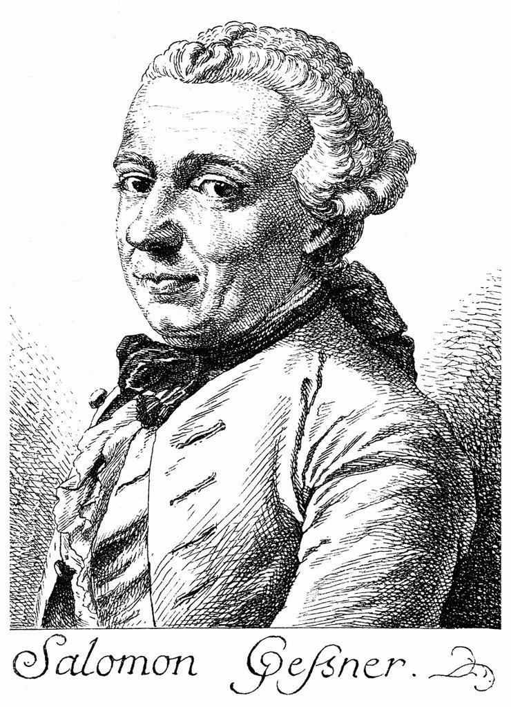 Stock Photo: 1848-709816 Historical illustration from the 19th century, portrait of Salomon Gessner, 1730 _ 1788, a Swiss poet, painter and graphic artist