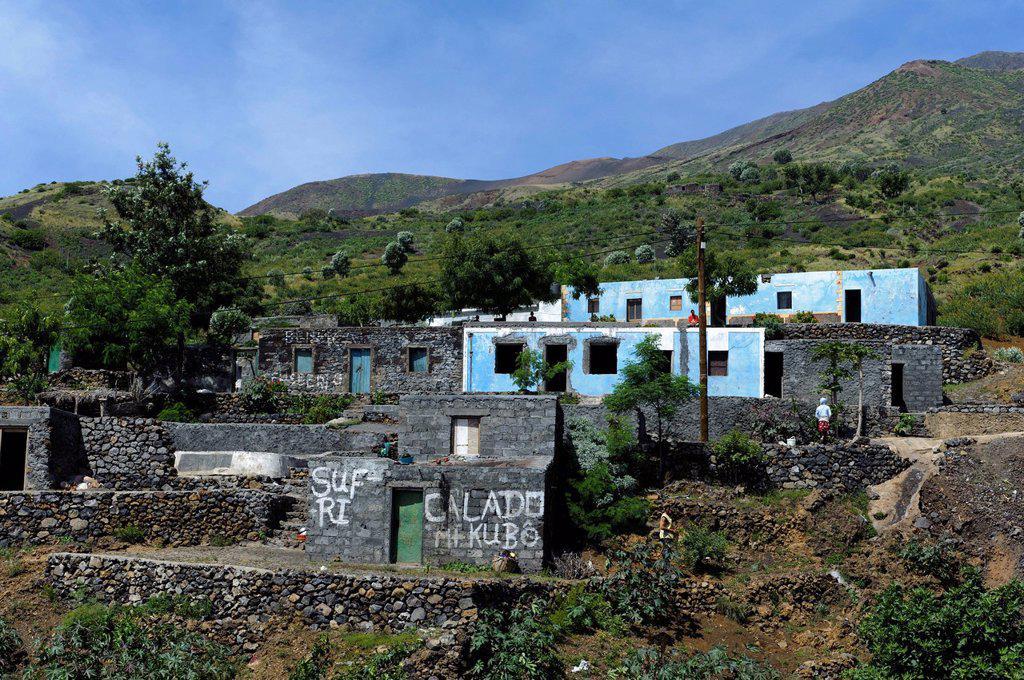Achada Furna, Fogo, Cape Verde, Africa : Stock Photo