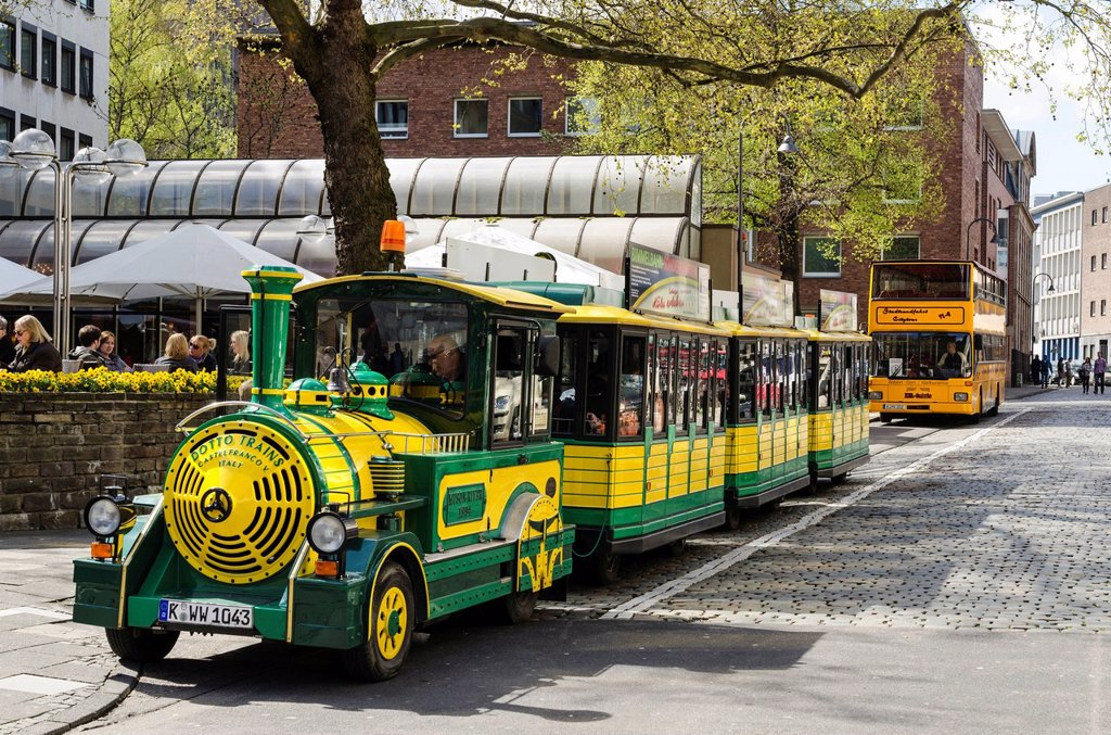 Stock Photo: 1848-710284 Sightseeing train in the historic town centre of Cologne, North Rhine_Westphalia, Germany, Europe