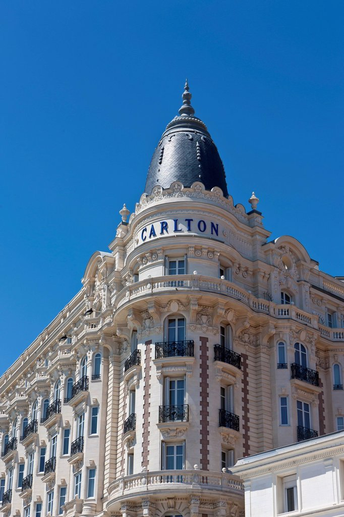 Stock Photo: 1848-711004 Carlton International, luxury hotel on La Croisette, Cannes, Côte d'Azur, Southern France, France, Europe, PublicGround