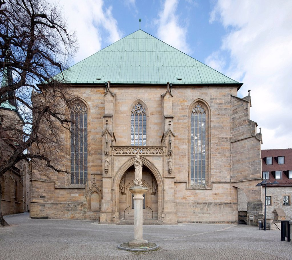 Mariendom, St. Mary´s Cathedral, Erfurt Cathedral, Erfurt, Thuringia, Germany, Europe, PublicGround : Stock Photo