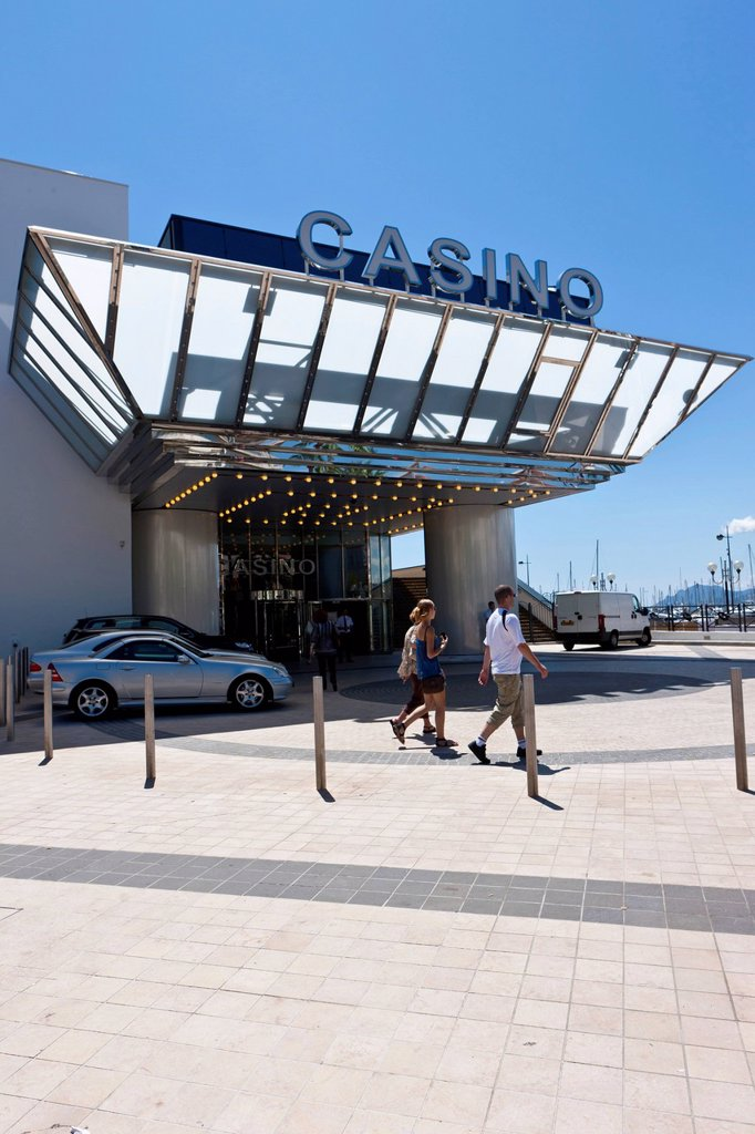 Casino on the Croisette, Cannes, Cote d´Azur, Southern France, France, Europe, PublicGround : Stock Photo