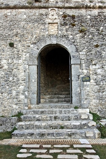 Stock Photo: 1848-71262 The Castle of Monte Sant´Angelo, haunted by the ghost of Bincalancia, Gargano, Foggia, Apulia, Italy, Europe