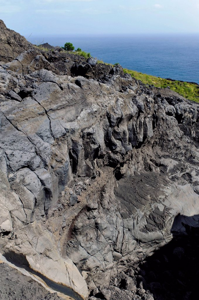 Stock Photo: 1848-712940 Lava rocks on the east coast, Fogo, Cape Verde, Africa