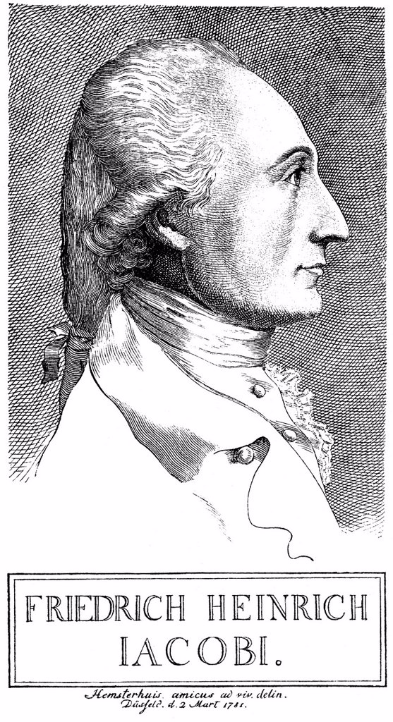 Historical illustration from the 19th century, portrait of Friedrich Heinrich Jacobi, 1743 _ 1819, a German philosopher, lawyer, businessman and author : Stock Photo