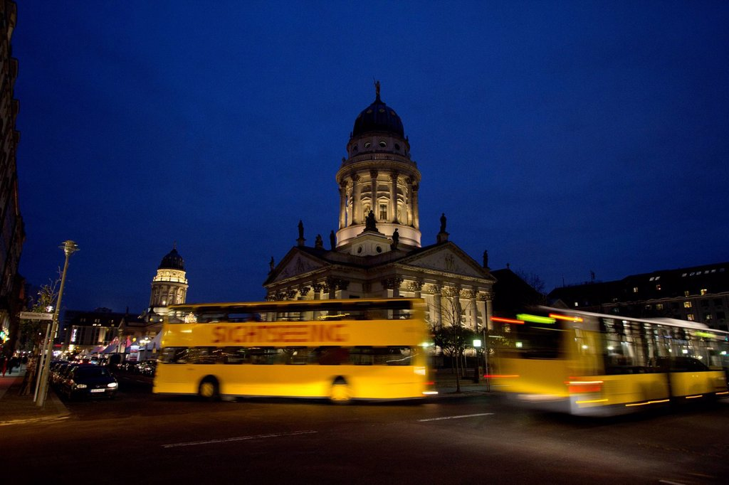 Gendarmenmarkt square in the evening, Berlin, Germany, Europe : Stock Photo
