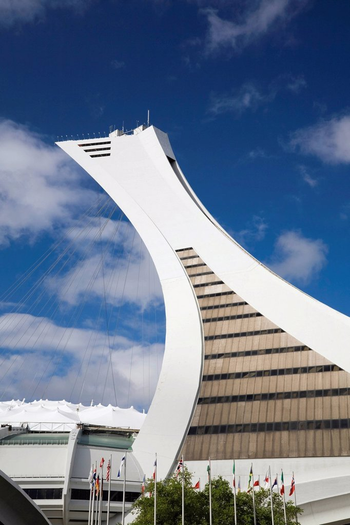 Stock Photo: 1848-713400 Olympic Stadium tower, Montreal, Quebec, Canada
