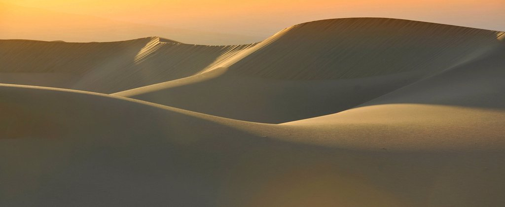 Stock Photo: 1848-713474 Mesquite Flat Sand Dunes, morning light at sunrise, Stovepipe Wells, Death Valley National Park, Mojave Desert, California, United States of America, USA