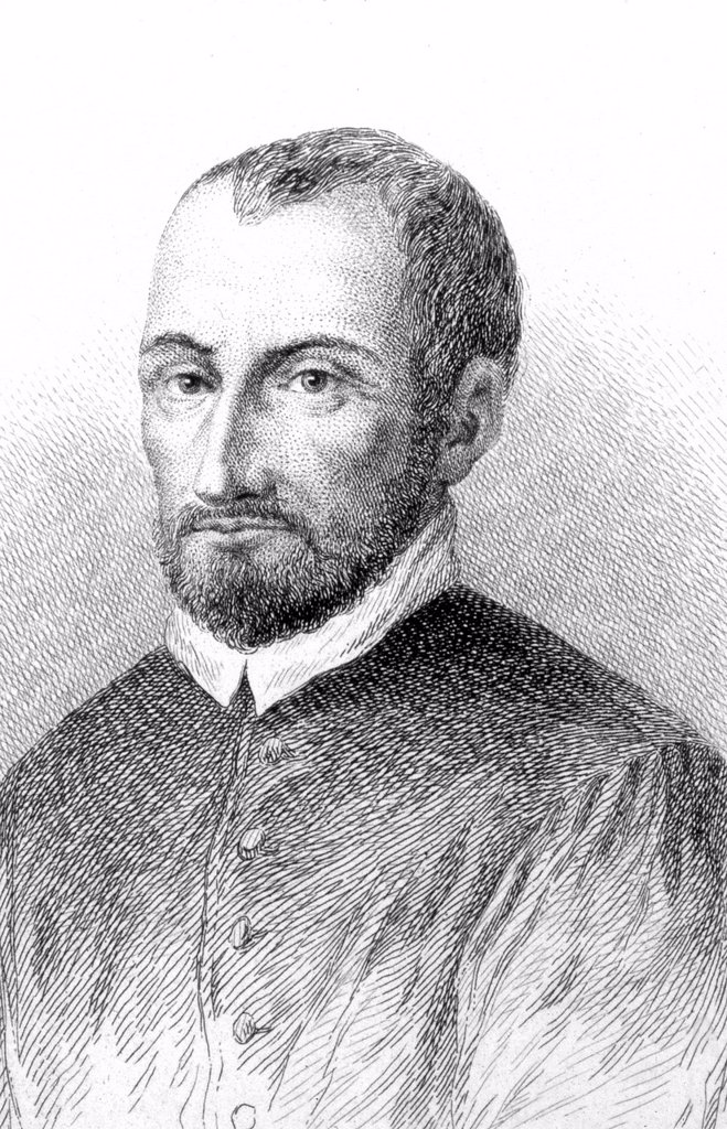 Giovanni Pierluigi da Palestrina, Italian composer, 1525 _ 1590, historical portrait, 1852 : Stock Photo