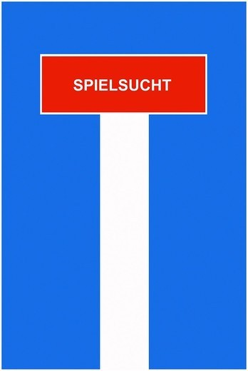 Symbolic image, dead end street, cul_de_sac, Spielsucht, German for ´´game addiction´´ : Stock Photo
