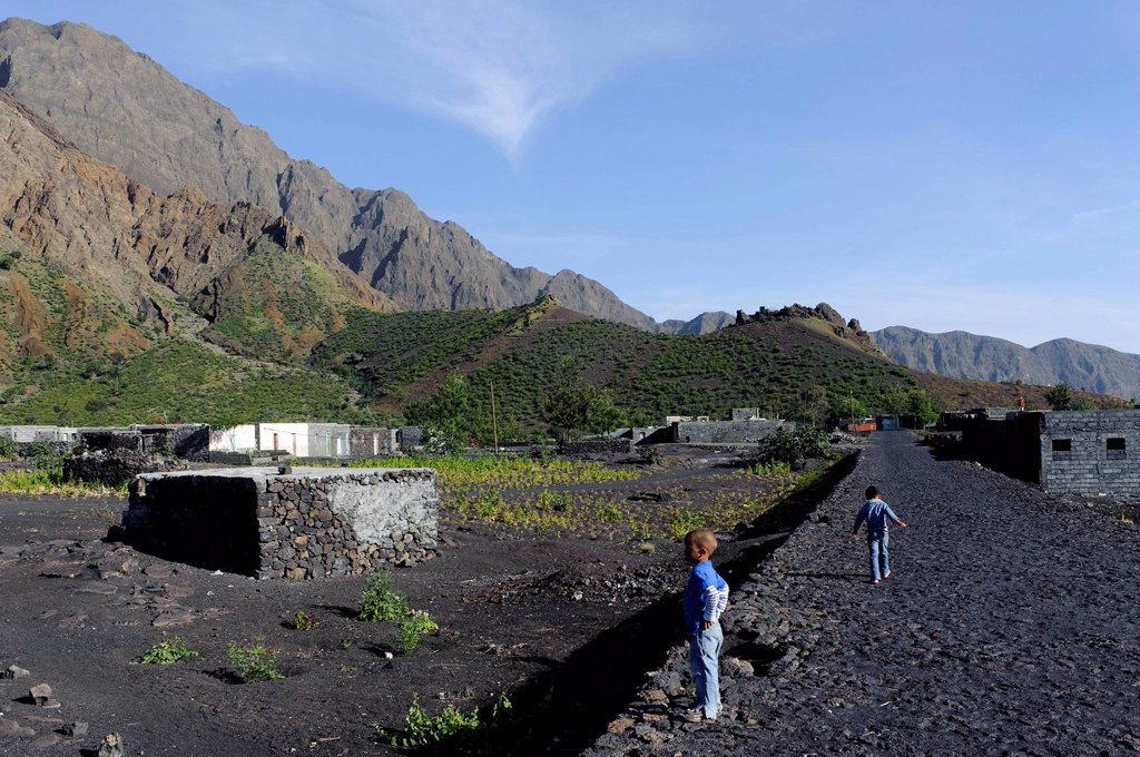 Stock Photo: 1848-716822 In the Chã das Caldeiras, Plain of the Calderas, Fogo, Cape Verde, Africa