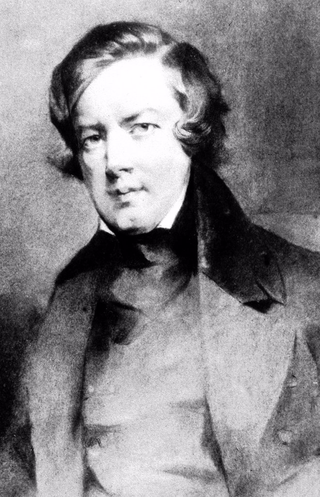Stock Photo: 1848-716947 Robert Schumann, German composer, 1810 _ 1856, historical portrait, 1895