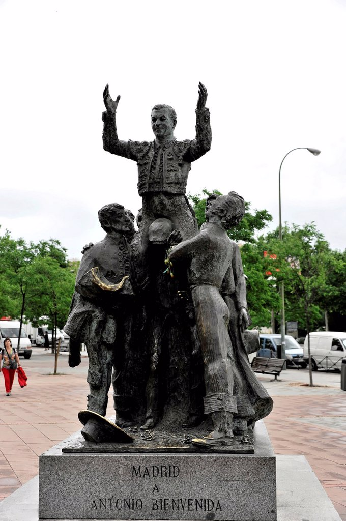 Stock Photo: 1848-717730 Monument in front of the bullring, Piazza de Torros square, Madrid, Spain, Europe