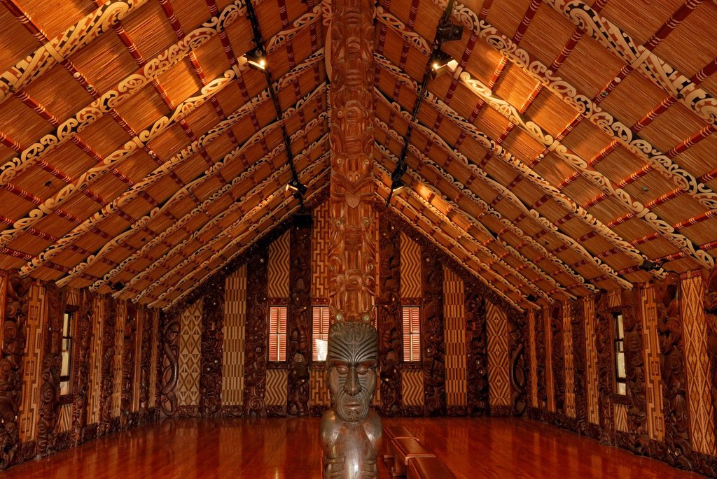 Stock Photo: 1848-718127 Maori Meeting House, Waitangi Treaty Grounds, Waitangi, North Island, New Zealand