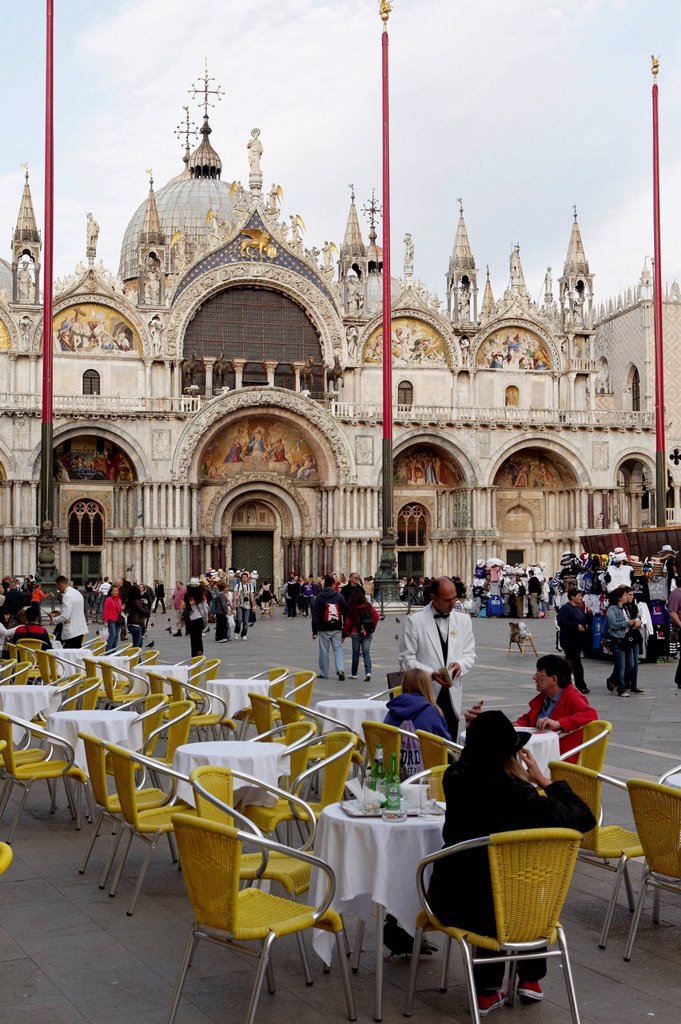 Stock Photo: 1848-718187 St Mark´s Basilica, Basilica di San Marco, Piazza San Marco, St Mark´s Square, Venice, UNESCO World Heritage, Venetia, Italy, Europe