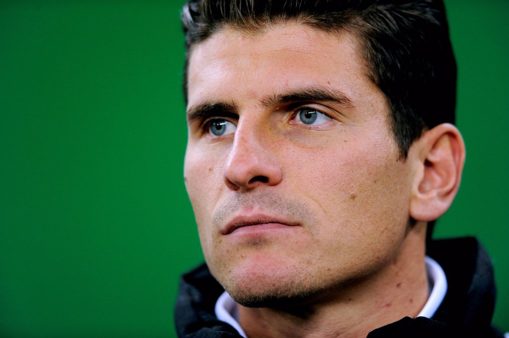 Mario Gomez, portrait, international football match, friendly match, Germany _ Netherlands 3:0, Imtech Arena, Hamburg, Germany, Europe : Stock Photo