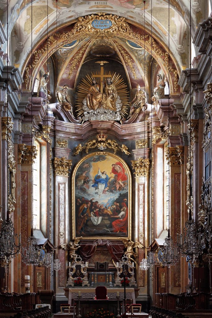 Stock Photo: 1848-718733 Main altar, Dom Mariae Himmelfahrt, Cathedral of the Assumption of Mary, St Poelten, Mostviertel, Must Quarter, Lower Austria, Austria, Europe