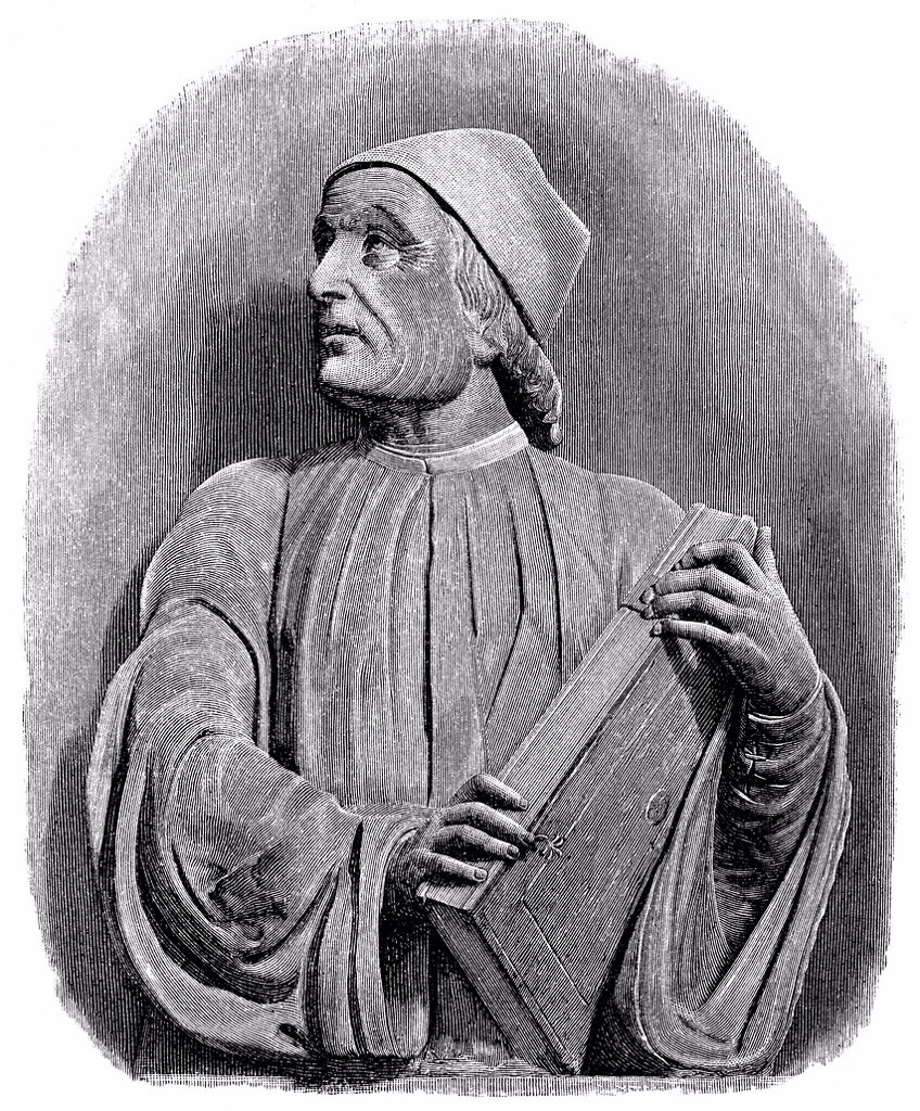 Historical illustration from the 19th Century, portrait of Marsilio Ficino, 1433 _ 1499, an Italian humanist and philosopher : Stock Photo