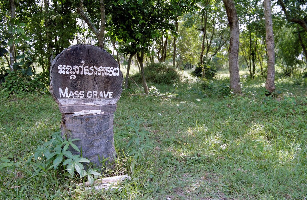 Stock Photo: 1848-719264 Mass grave in the Killing Fields near Phnom Penh, Cambodia, Southeast Asia, Asia