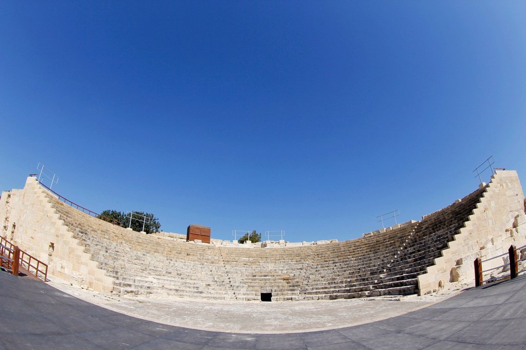 Theatre of Kourion, Cyprus, Greece, Europe : Stock Photo