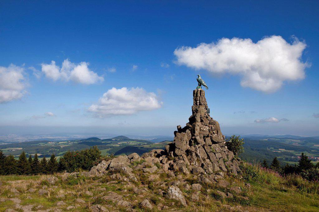 Stock Photo: 1848-720056 Aviation monument, Wasserkuppe Mountain, Rhoen, Hesse, Germany, Europe