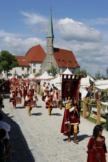 Medieval festival in Burghausen, Upper Bavaria, Bavaria, Germany, Europe : Stock Photo
