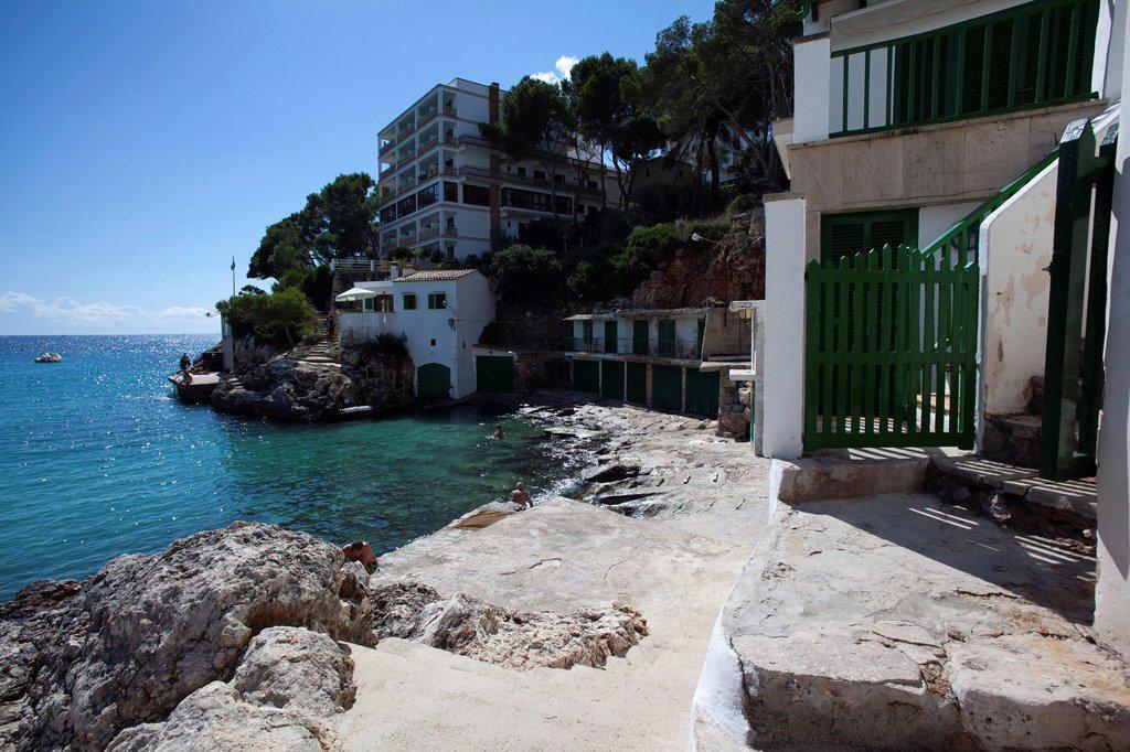 Cala Santanyi, southeast coast, Majorca, Balearic Islands, Spain, Europe : Stock Photo
