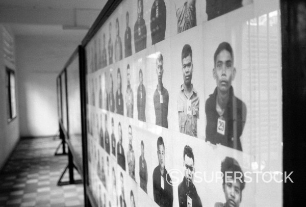 Victims in Tuol Sleng Genocide Museum, Phnom Penh, Cambodia, Southeast Asia, Asia : Stock Photo