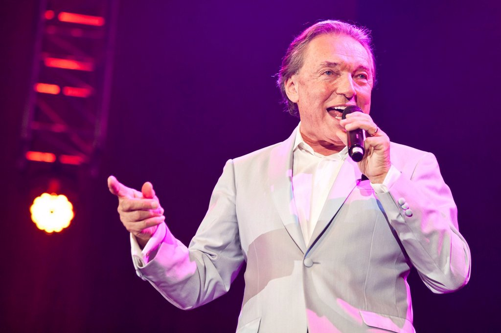 Stock Photo: 1848-721373 Czech pop singer Karel Gott performing live at the Schlager Nacht 2012, pop song night, in Lucerne, Switzerland, Europe