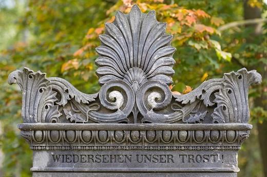 Stock Photo: 1848-72196 Grave of Joseph von Krempelhuber, 1771_1827, salesman, Alter Suedfriedhof Cemetery, Munich, Bavaria, Germany