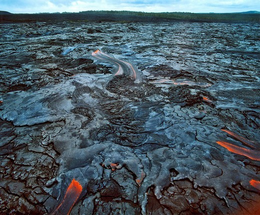 Volcanoes National Park, volcano rocks and lava, Big Island, Hawaii, USA : Stock Photo